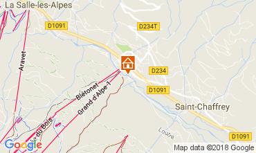 Map Serre Chevalier Chalet 112915