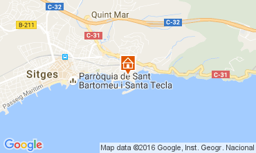 Map Sitges Apartment 64429