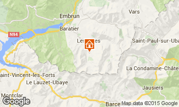 Map Les Orres Chalet 38653