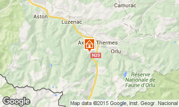 Map Ax Les Thermes Chalet 67769