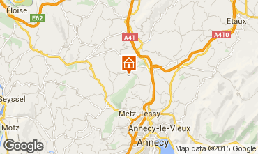 Map Annecy Self-catering property 58013