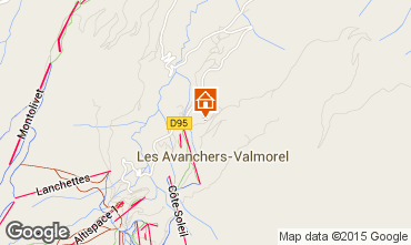Map Valmorel Apartment 76578