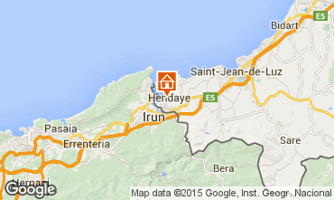 Map Hendaye Apartment 82155