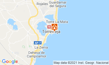 Map Torrevieja Apartment 75230
