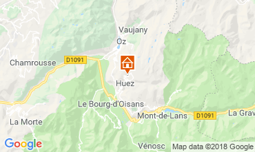 Map Alpe d'Huez Studio apartment 116497