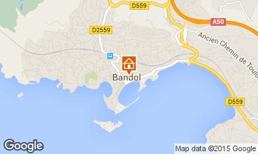 Map Bandol Studio apartment 25481