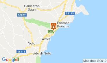 Map Avola Villa 95053