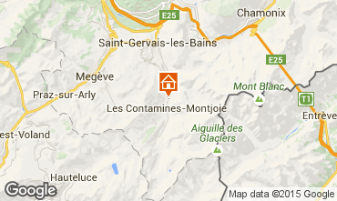 Map Les Contamines Montjoie Studio apartment 83214