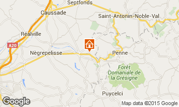 Map Montauban Self-catering property 12158