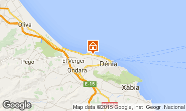 Map Denia Apartment 31192