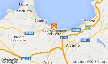 Map Castellammare del Golfo Apartment 70426