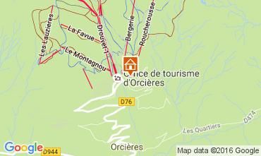 Map Orcières Merlette Apartment 57846