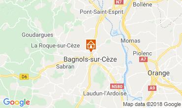 Map Bagnols sur Cèze Self-catering property 116366