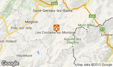 Map Les Contamines Montjoie Apartment 74055