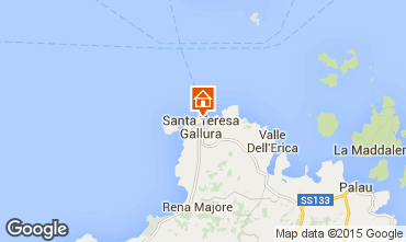 Map Santa Teresa di Gallura Apartment 84500