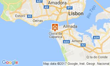Map Costa de Caparica Apartment 108440