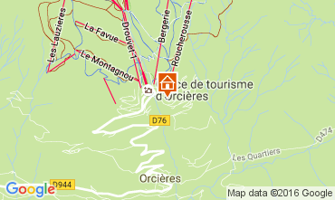 Map Orcières Merlette Apartment 2053