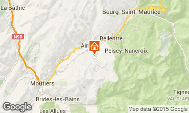 Map La Plagne Self-catering property 19942