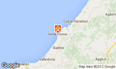 Map Isola Rossa Apartment 61212