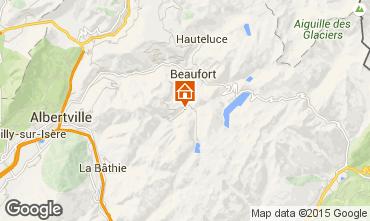 Map Areches Beaufort Studio apartment 29709