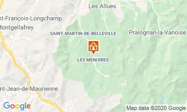 Map Les Menuires Chalet 1618