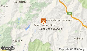 Map Saint Sorlin d'Arves Studio apartment 2690