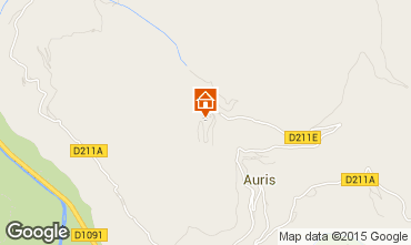 Map Auris en Oisans Apartment 375