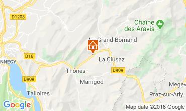 Map La Clusaz Apartment 117583