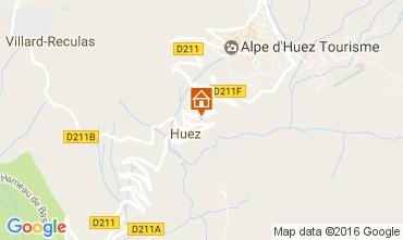 Map Alpe d'Huez Chalet 14816