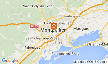 Map Montpellier Apartment 104594
