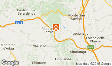 Map Rapolano Terme Apartment 69682