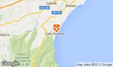 Map Cala Gonone Apartment 69981