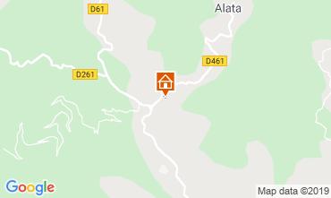 Map Ajaccio Villa 102159