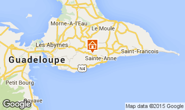 Map Sainte Anne (Guadeloupe) Self-catering property 60117