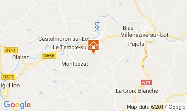 Map Dolmayrac Self-catering property 75435