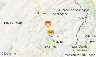 Map Morzine Chalet 101488