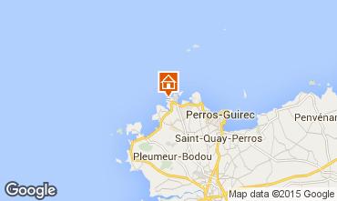 Map Perros-Guirec Apartment 39001