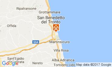 Map San Benedetto del Tronto Apartment 43666