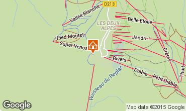 Map Les 2 Alpes Apartment 66160
