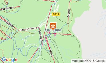 Map Les Arcs Apartment 173