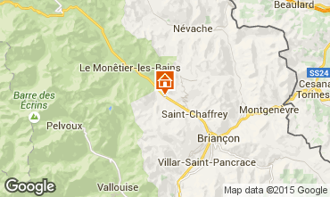 Map Serre Chevalier Studio apartment 74661