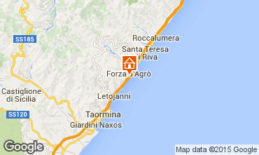 Map Taormina Apartment 23128