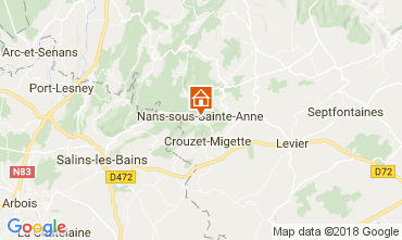 Map Salins les Bains Self-catering property 113029
