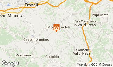 Map Montespertoli Apartment 74504