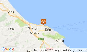 Map Denia Apartment 108227