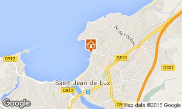 Map Saint Jean de Luz Studio apartment 20172
