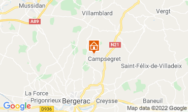 Map Bergerac Self-catering property 118052