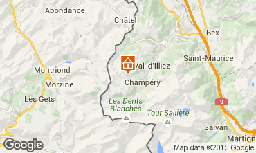 Map Les Crosets Chalet 14794