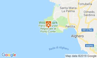 Map Alghero Villa 119535