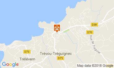 Map Perros-Guirec Apartment 114258